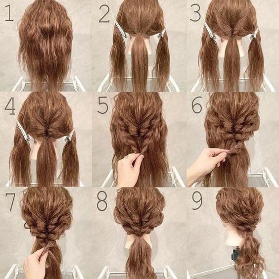 cách bới tóc cô dâu