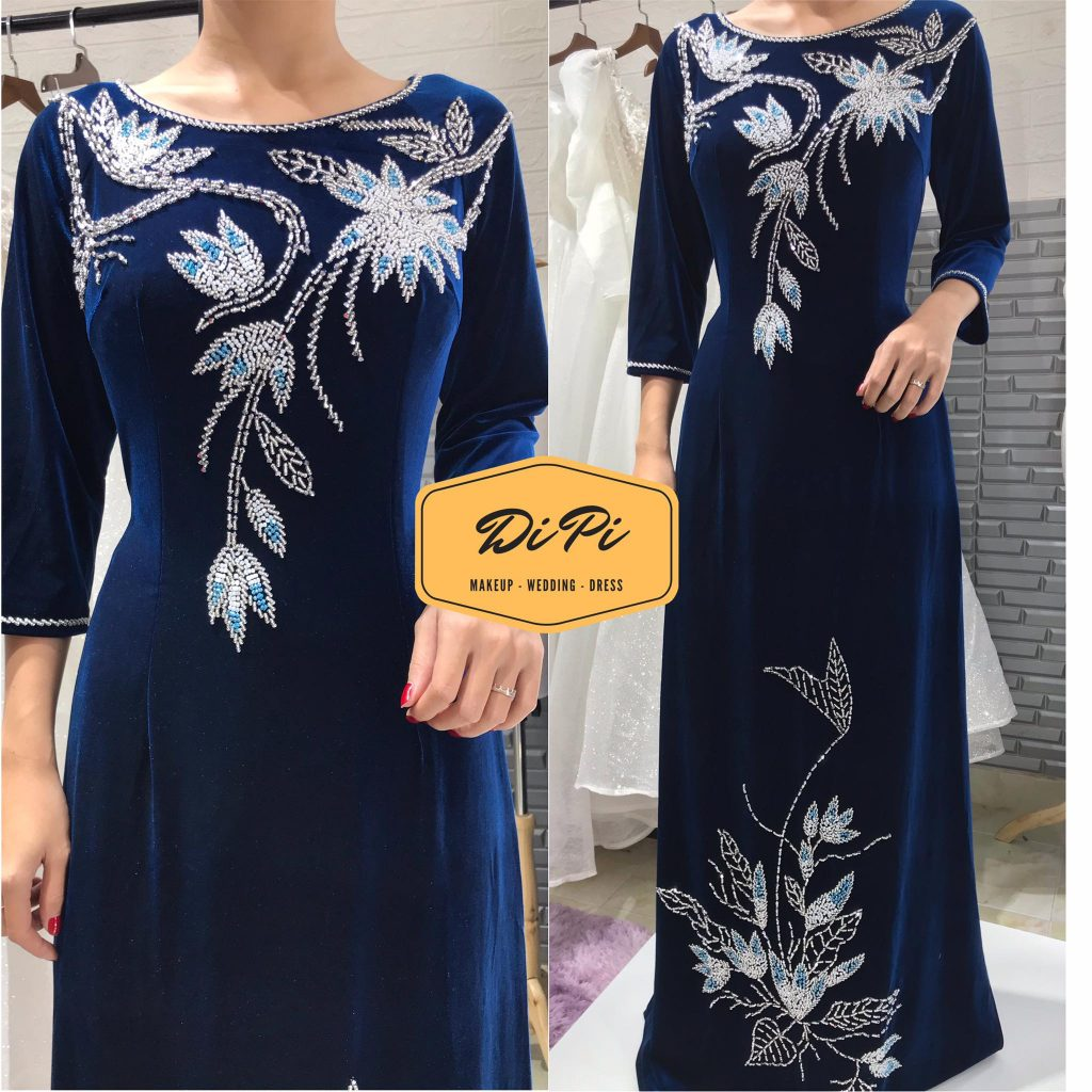 áo dài sui màu xanh