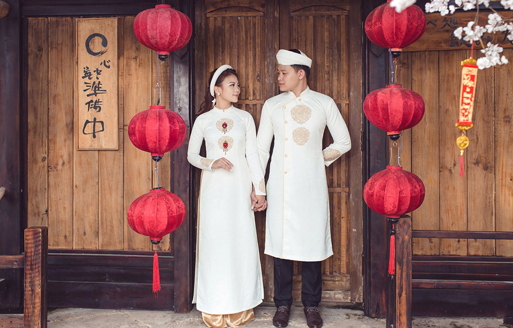 Cho thuê áo dài nam truyền thống