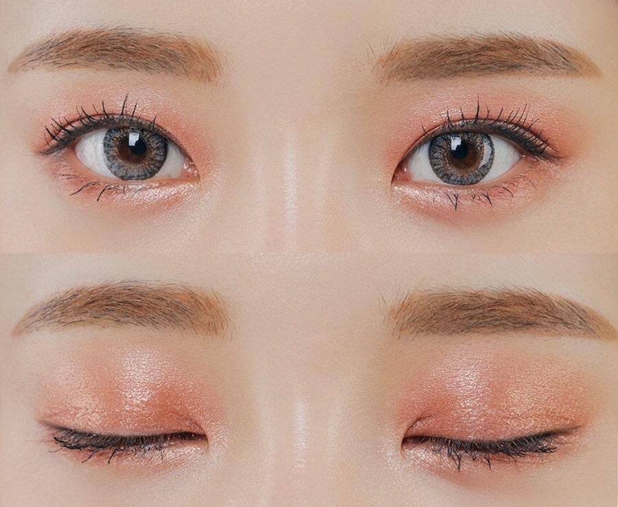 cách trang điểm mắt tông cam đào