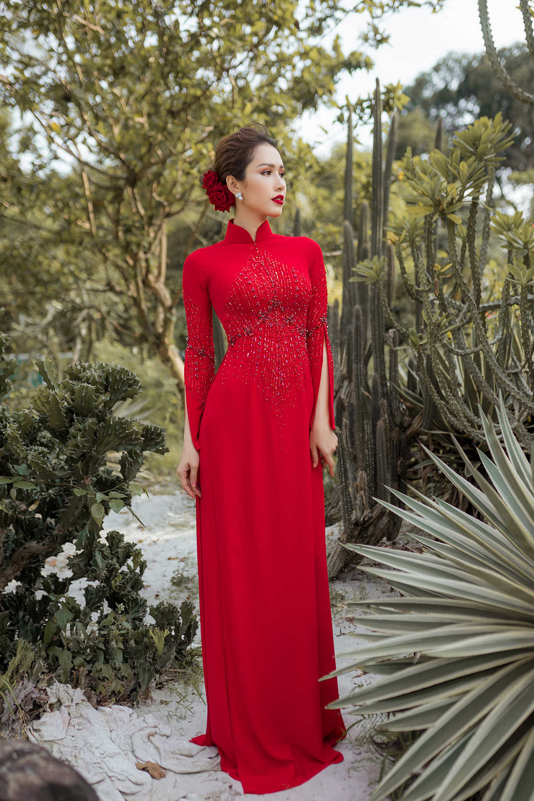 thuê áo dài cô dâu ở Sài Gòn