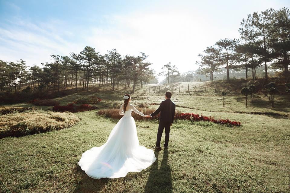 thuê váy cưới chụp hình ngoại cảnh