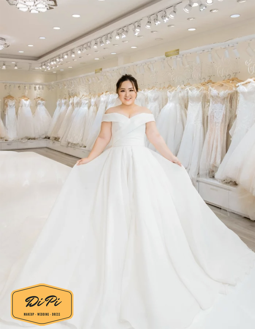 thuê váy cưới size lớn tại TPHCM