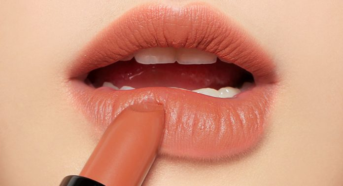 trang điểm môi tông cam