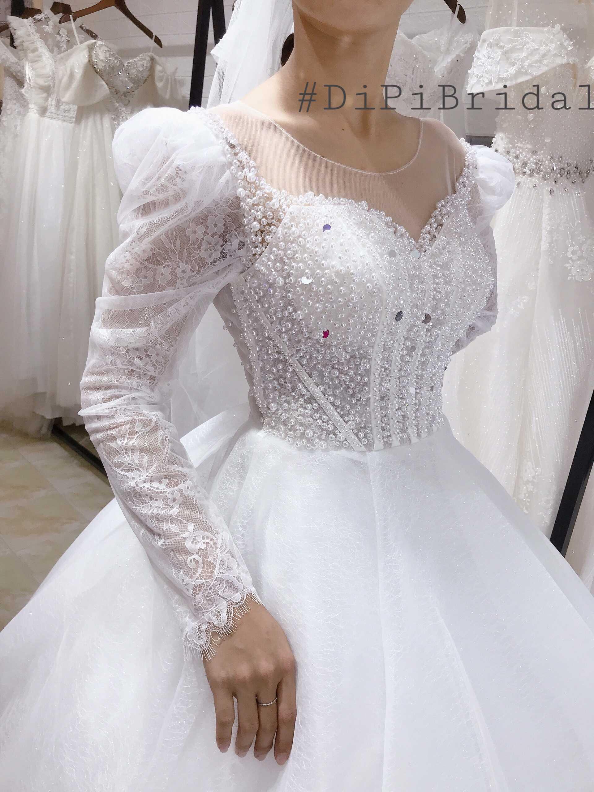 áo cưới tay dài