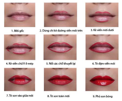 cách son môi