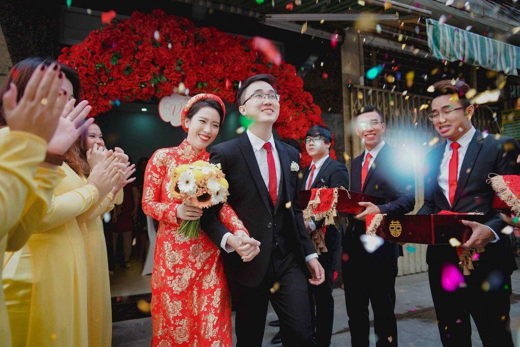 chụp hình cưới tiệc tại TPHCM