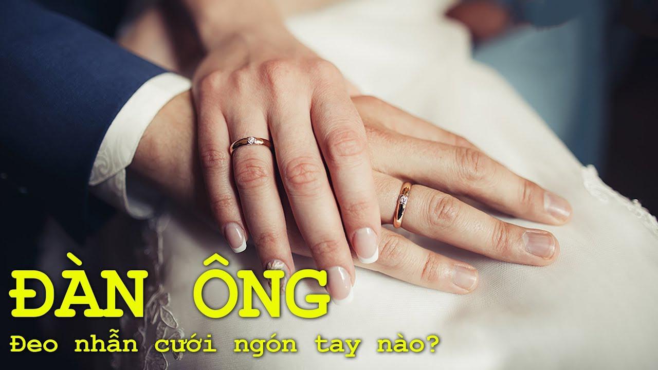 con trai đeo nhẫn cưới tay nào