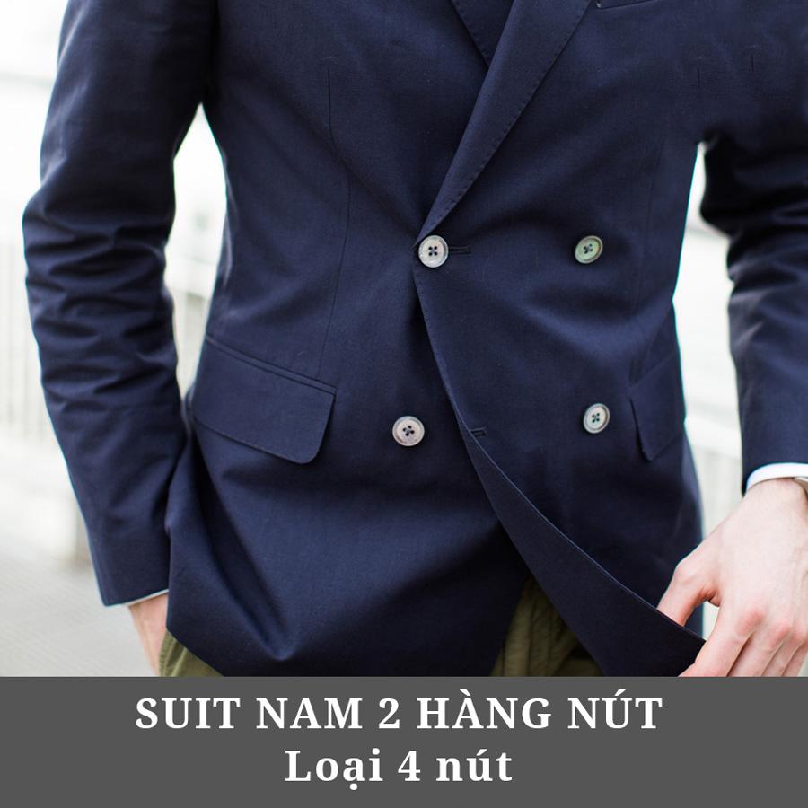 Suit nam 2 hàng nút ( loại 4 nút )