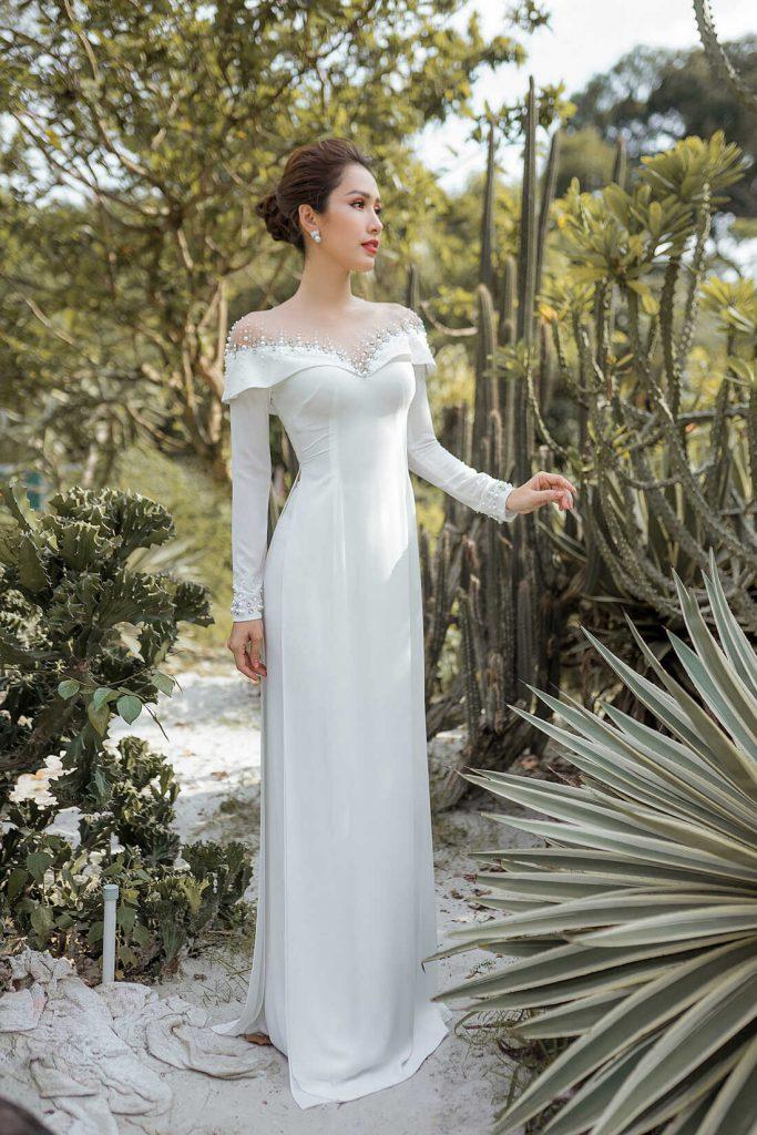 áo dài cô dâu cao cấp