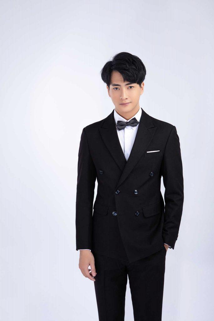 áo vest nam màu đen