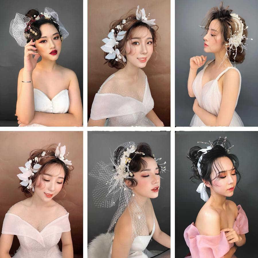 các kiểu tóc cô dâu đẹp