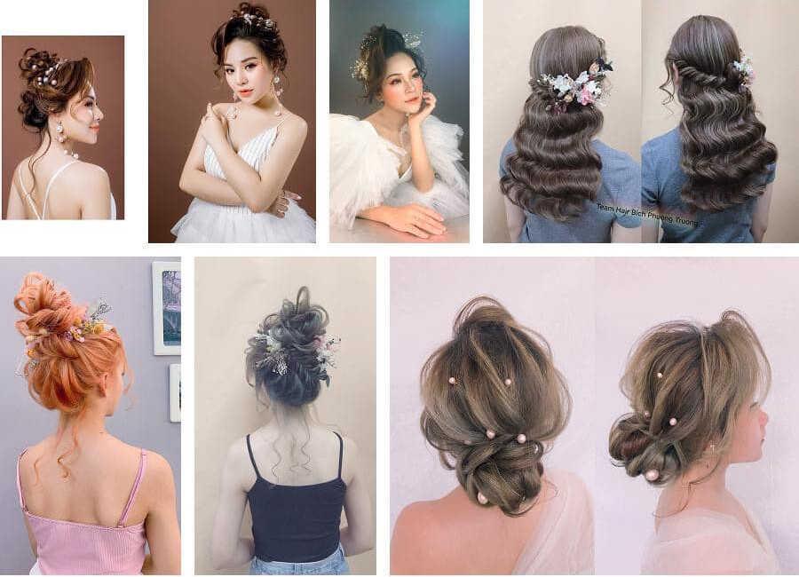 các kiểu tóc cô dâu mới
