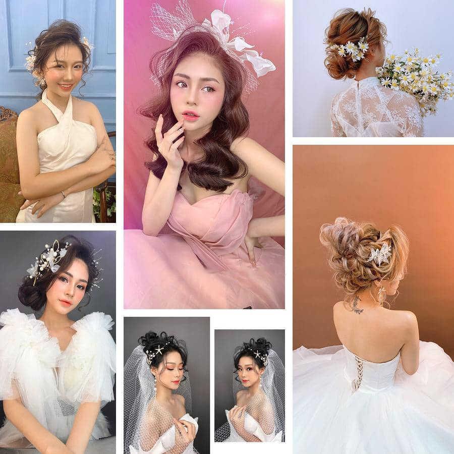 các kiểu tóc cô dâu