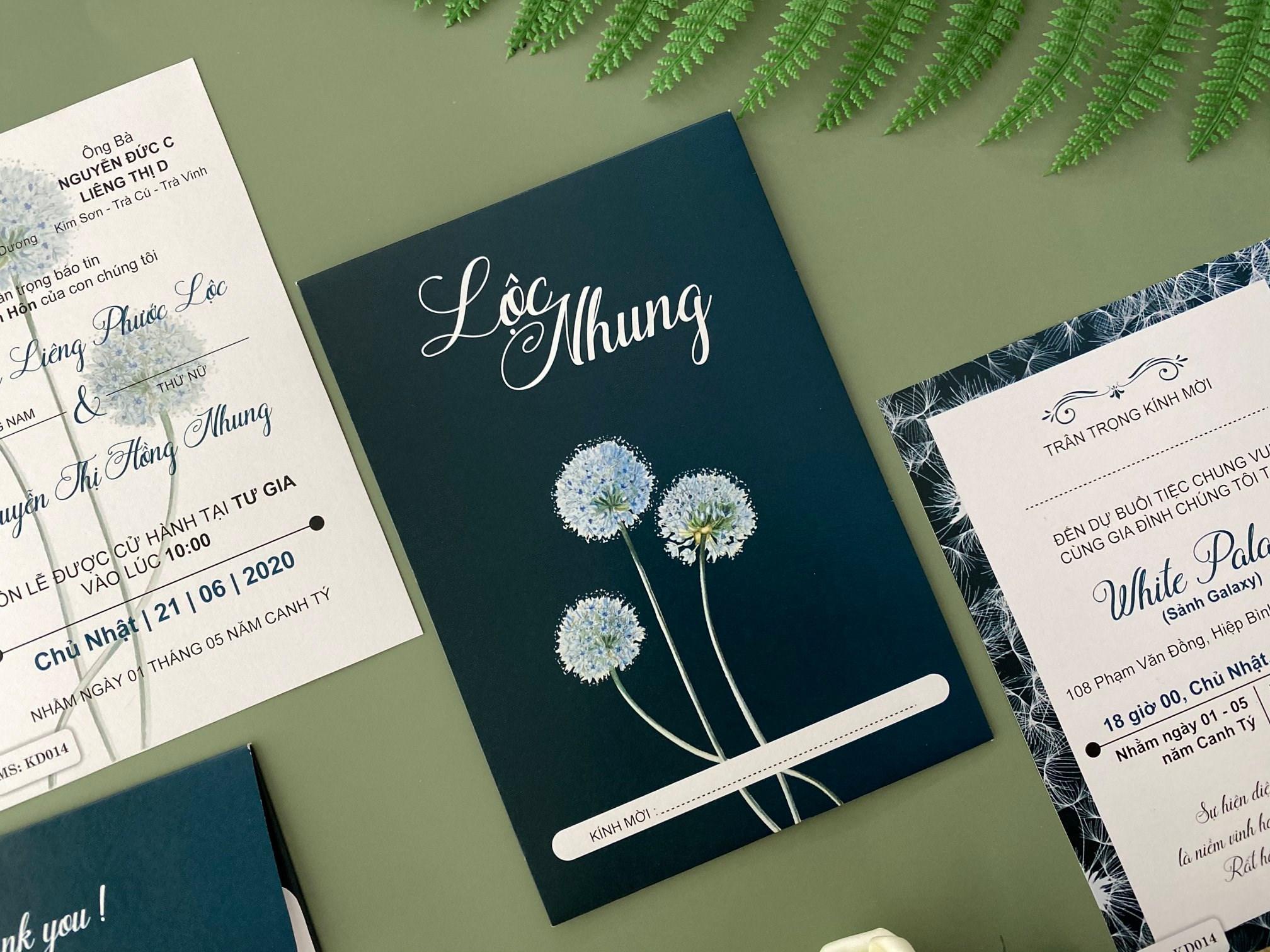 cách viết thiệp mời cưới