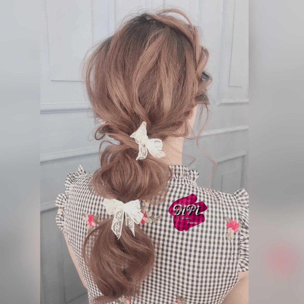 kiểu tóc cô dâu buông xoã tự nhiên