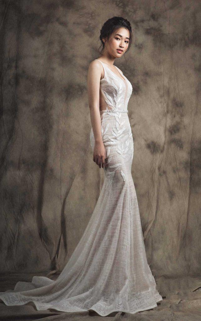 váy cưới body đuôi cá