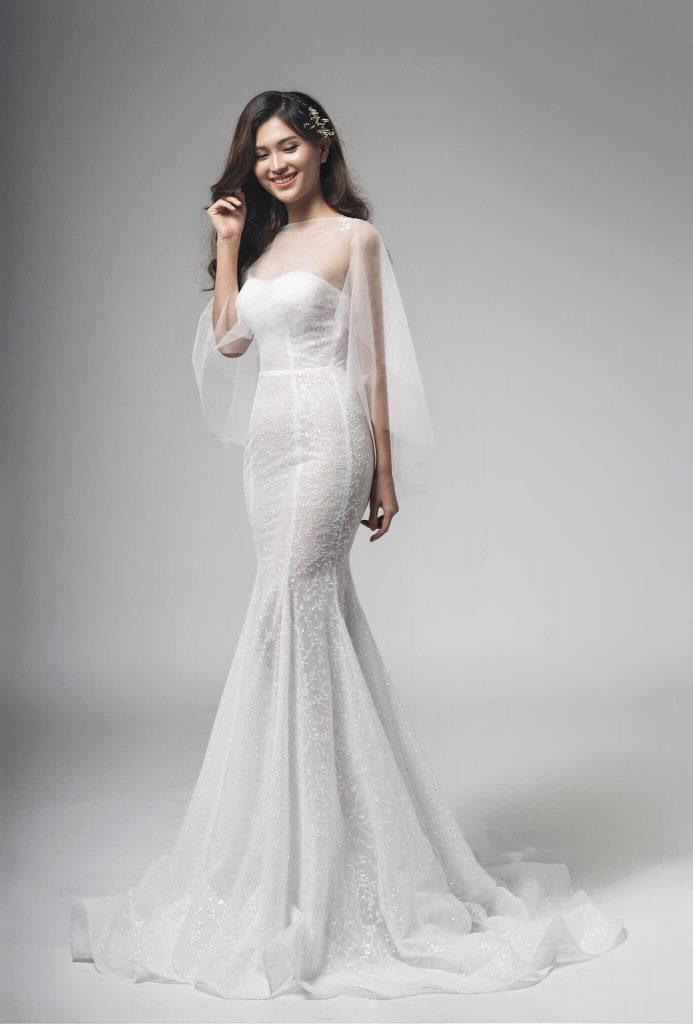 váy cưới ôm body