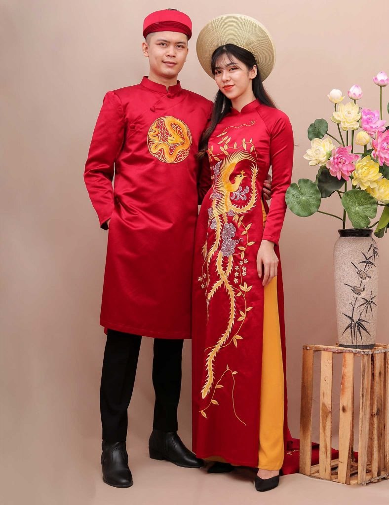áo dài cặp đôi