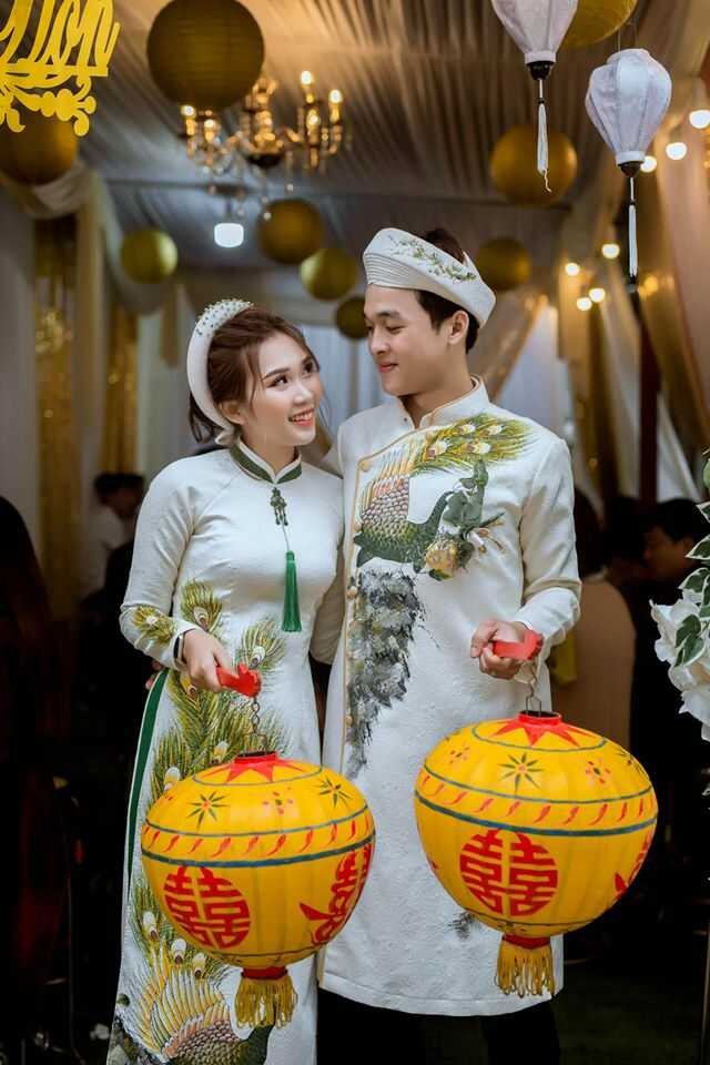 áo dài cưới cặp đôi