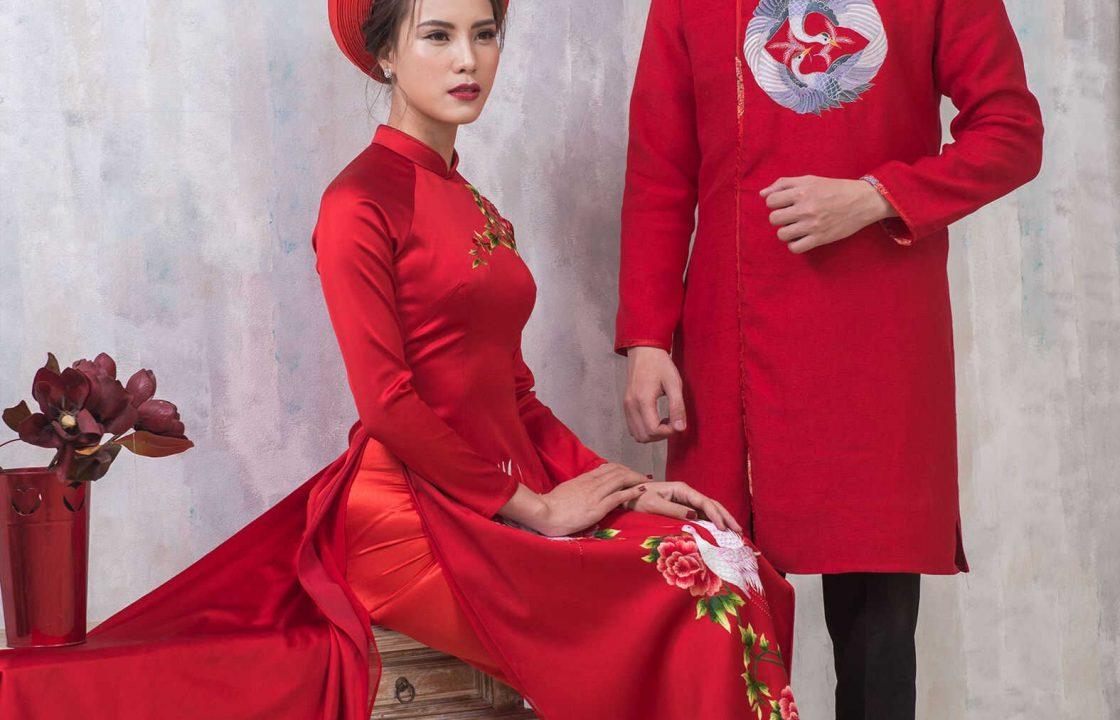 áo dài cưới cặp