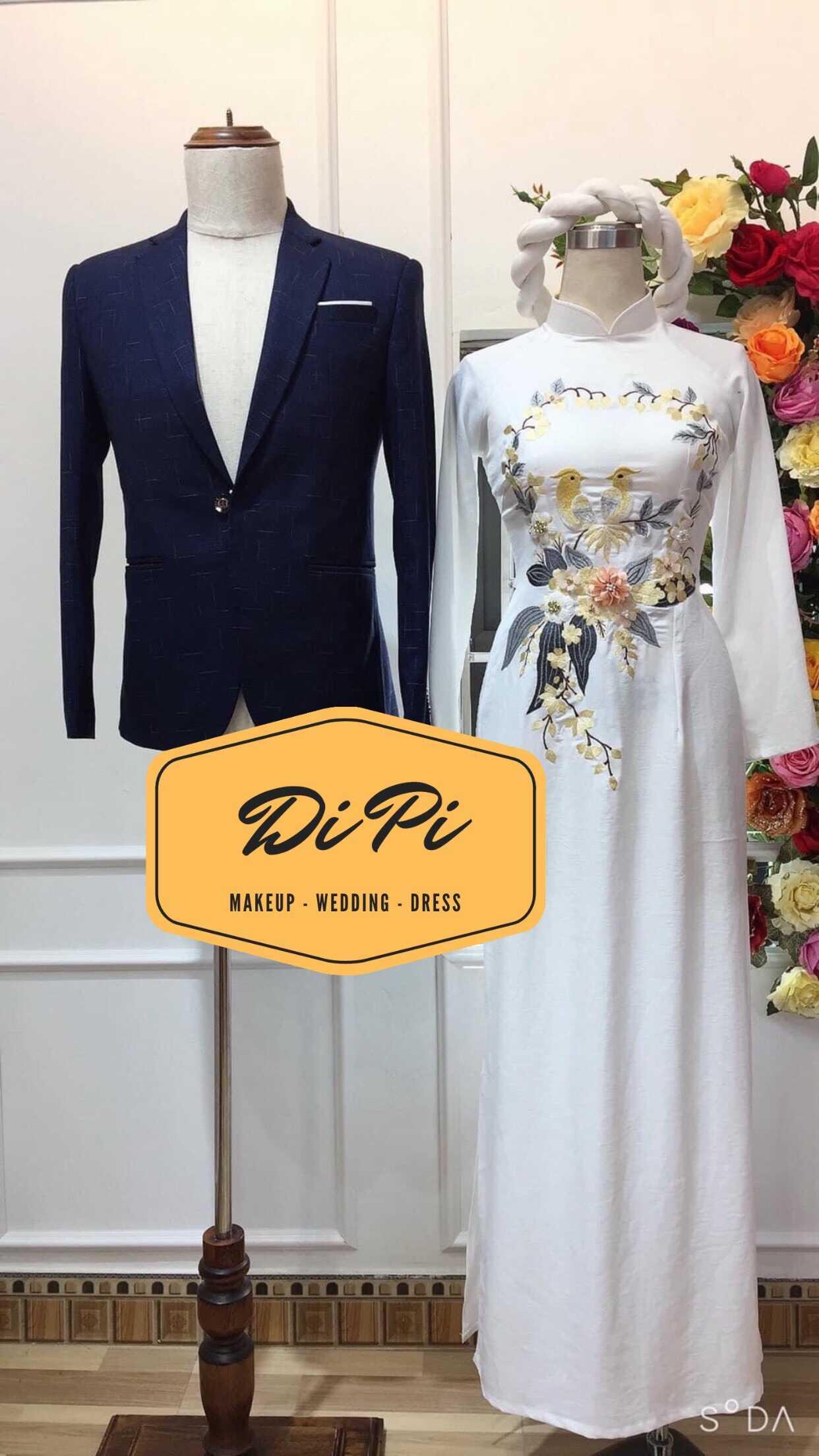 áo dài cưới trơn
